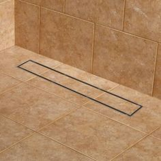 Signature Hardware Cohen Tile Insert Linear Shower Drain with Fl Brushed Stainless Steel Shower Accessories Shower Drains Linear Drain Bathroom Drain, Shower Drain, Rainfall Shower, Steam Showers Bathroom, Small Bathroom, Bathroom Ideas, Modern Bathrooms, Basement Bathroom, Master Bathrooms