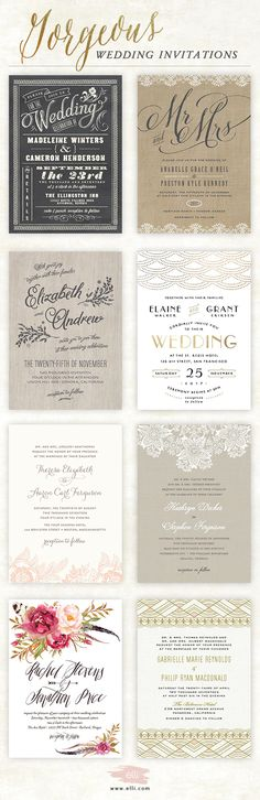 Find hundreds of gorgeous, customizable wedding invitations for your big day!