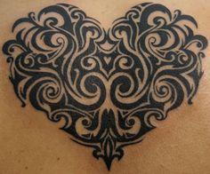 Ink Parade - Tribal, filigree heart