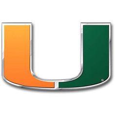 Ncaa Miami Hurricane Color Bling Emblem