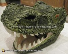 Coolest T-Rex Dinosaur Costume My four-year-old son loves dinosaurs and wanted to be a T-Rex for Halloween I constructed the T-Rex Dinosaur Costume in four components: head, tail, Dinosaur Halloween Costume, T Rex Costume, Hallowen Costume, Halloween Costumes For Kids, Halloween Crafts, Halloween Ideas, Halloween 2016, Dinosaur Crafts, Dinosaur Party