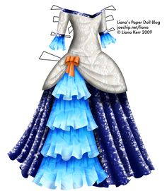 A masquerade gown with a bodice patterned with white lace. The neckline is off the shoulders and slightly V-shaped, and is trimmed with a li. Beautiful Dolls, Beautiful Dresses, Masquerade Gown, Dress Drawing, Fashion Design Sketches, Vintage Paper Dolls, Print Pictures, Dress Patterns, Baby Dress