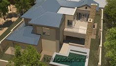 South African house plans for sale online. Buy contemporary 4 bedroom double storey, modern 5 bedroom floor plans, 3 bedroom house plans with photos. House Plans For Sale, House Plan With Loft, Luxury House Plans, Dream House Plans, Dream Houses, 4 Bedroom House Designs, 4 Bedroom House Plans, Garage House Plans, Contemporary House Plans