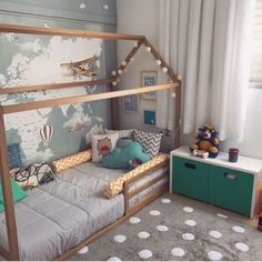 55 Best Montessori Bedroom Design For Happy Kids 007