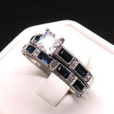 Kate, Engagement Ring Wedding Band Set Stainless Steel