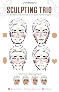 How to get a flawless face in less than 5 minutes The new highlighter and contour set from Younique is perfect!