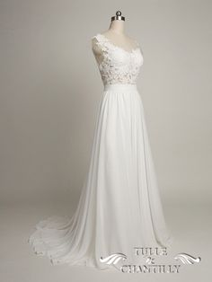 Custom-Made Exquisite Lace Tulle Open Back Wedding Dress With Cap Sleeves 2