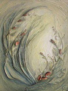 """Интерьерные композиции ручной работы. Ярмарка Мастеров - ручная работа Флористический коллаж """"Утро"""". Handmade."""