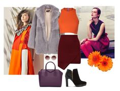"""""""Maroon, Orange & Purple"""" by sofii-rodriguez11 ❤ liked on Polyvore featuring TIBI, Sydney-Davies, Givenchy, WithChic and Dune"""