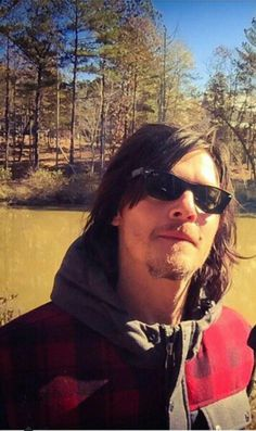 Norman the outdoorsman, cute in flannel. #Reedus4Life