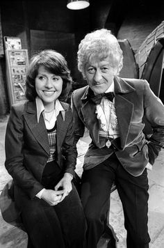 The Third Doctor (Jon Pertwee) with his companion, Sarah Jane Smith (Elisabeth Sladen), 1973.