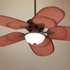 52 Casa Vieja Rattan Outdoor Tropical Ceiling Fan -  #glo #lampsplus #makesummerbright