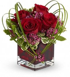 Teleflora's Sweet Thoughts Bouquet with Red Roses in Miami OK, SunKissed Floral