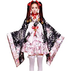 Partiss Damen Prinzessin Blumen Cosplay Kimono Morgenmantel Kostuem Lolita Kleid aus Satin Partiss http://www.amazon.de/dp/B00YBQ0Z9U/ref=cm_sw_r_pi_dp_xYcAvb1ZKHG14