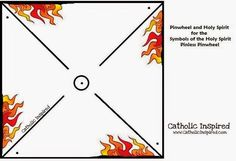 Pentecost Pin-less Pinwheel ~ Symbol of Fire and Wind - Catholic Inspired