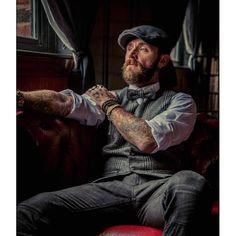flat cap and smoking men : Photo