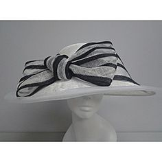 8ab74c970fa Swan Hat Women s White  Black Synamay Summer Hat Summer Hats