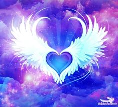 Archangel Gabriel ~ On Heavenly Blessings Wings Wallpaper, Angel Wallpaper, Heart Wallpaper, Love Wallpaper, Wallpaper Backgrounds, Wallpapers, Der Klang Des Herzens, Cover Pics For Facebook, Wings Drawing