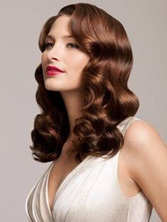 Ideas Wedding Hairstyles Vintage Waves Hollywood Glamour For 2019 Hollywood Glamour, Hollywood Stars, Hollywood Waves, Classic Hollywood, Vintage Hollywood, Wedding Hair And Makeup, Bridal Hair, Hair Makeup, 1940s Hairstyles