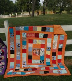 Quilt made from clothes