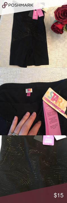"""Spanx Star Power """"Lady Luxe"""" High Girl Short Spanx can make an outfit look so much sexier! Slim your tummy and smooth your booty with these """"Super"""" slimming level, high waist shapers. Perfect for under that little black dress. Have a luxe shimmer effect on the front. Size M. Bundle for a discount!! :) SPANX Intimates & Sleepwear Shapewear"""