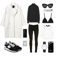 Monochrome by fashionlandscape on Polyvore featuring Mode, Equipment, Monki, Proenza Schouler, Daniel Wellington, NARS Cosmetics, Diptyque and rms beauty