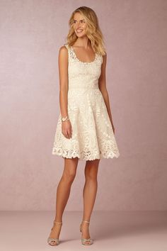 #BHLDNwishes elegantly embroidered Anouska Dress from @BHLDN