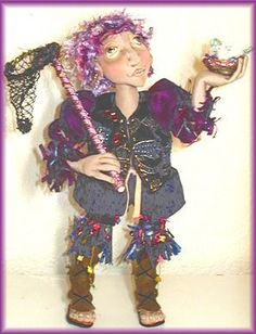 Elton, The Fairy Finder - epattern - Doll Street Dreamers -online doll classes, e-patterns, mixed media art classes, free doll patterns and more