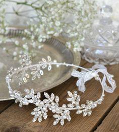Bridal headpiece Swarovski crystal forehead by JoannaReedBridal