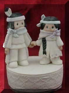 cute Native american  wedding cake topper 2006