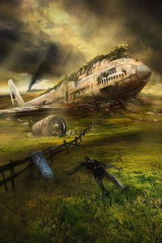 20 Year Plane Wreck by jbrown67.deviantart.com on @DeviantArt