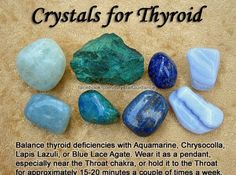 Crystals to support healing your thyroid. Hyper & hypothyroidism