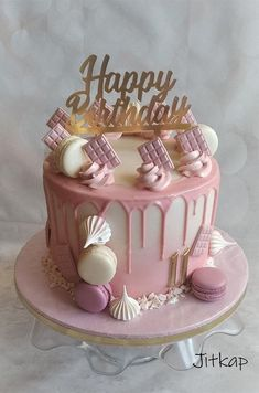 Candy Birthday Cakes, Birthday Cakes For Teens, Beautiful Birthday Cakes, Beautiful Cakes, Amazing Cakes, Happy Birthday, Teen Cakes, Online Cake Delivery, Cake Shop