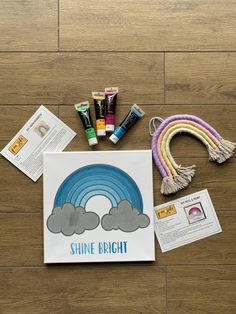 Enjoy two of our favourite in studio projects i. one amazing kit! This DIY delivery box includes our newly designed paint and peel kit as well as a yarn rainbow DIY hanger. As always all materials, supplies, instructions and YouTube tutorials included to create these incredible project in the comfort of your home💛 Grey Paint, White Paints, Diy Painting, Rainbow Colors, Hanger, Delivery, Tutorials, The Incredibles, Kit