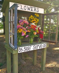 Appreciation of Local Fresh Cut Flowers Pictures of roadside Flower Stands - Bing Images.to sell your of roadside Flower Stands - Bing Images.to sell your The Farm, Small Farm, Flower Truck, Flower Cart, Vegetable Stand, Farm Business, Cut Flower Garden, Cactus Flower, Flower Farmer