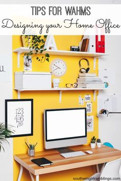 Home Office Design Ideas. When designing a functional small home office, you would need to consider four essential elements. These include the wall color, lighting,and storage Home Office Design, Home Office Decor, Diy Home Decor, Office Ideas, Home Office Organization, Organizing Your Home, Organization Ideas, Organising, Small Rooms