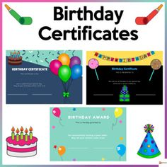 School Resources, Classroom Resources, Classroom Organization, Classroom Management, School Stuff, Back To School, Birthday Certificate, Student Birthdays, Student Awards