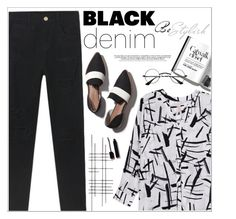 """""""Denim Trend: Black Jeans"""" by meyli-meyli ❤ liked on Polyvore featuring Crate and Barrel, Melissa McCarthy Seven7, Serge Lutens, women's clothing, women's fashion, women, female, woman, misses and juniors"""