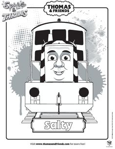 thomas friends salty colouring in picture find lots more activities like this at - Thomas Friends Coloring Pages