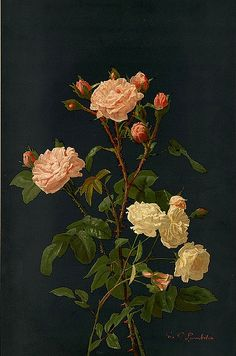 George Cochran Lambdin,  Pink and White Roses, 1861-97