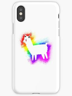 """""""Rainbow Splatter Alpaca - Paint dripping llama"""" iPhone Cases & Covers by Chris  Kelly   Redbubble"""