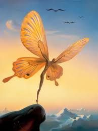 Vladimir Kush.  Risk.  Life.  Adventure.  Creativity.  Butterfly.