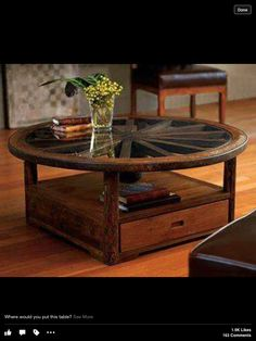 Wagon Wheel table