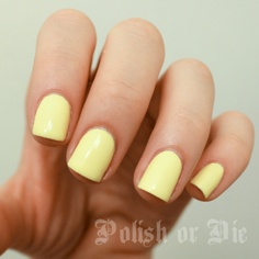 Obsessing over pale Yellow nail polish.