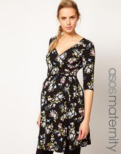 ASOS Maternity Wrap Dress In Floral
