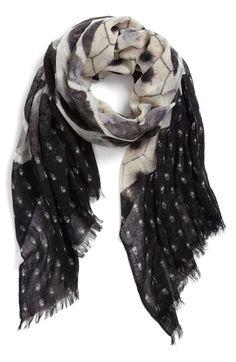 patchwork print scarf / hinge