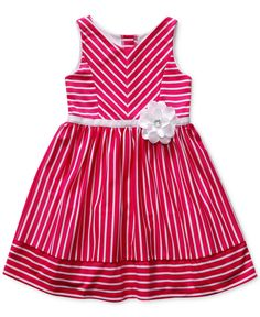 Sweet Heart Rose Little Girls' Striped Knit Dress - Kids Girls 2-6X - Macy's
