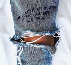 scrivilo sui jeans