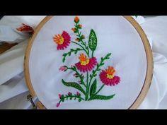 Hand Embroidery: Flower Stitch (Bullion Lazy, French Knot...) - YouTube