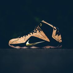 """""""Nike LeBron 12 EXT - 'Kings Cork' $250 sizes 8-13 Available 09.12.2015 at all locations. Call 337.806.9615 for more info. #lebroncork #lebron12…"""""""